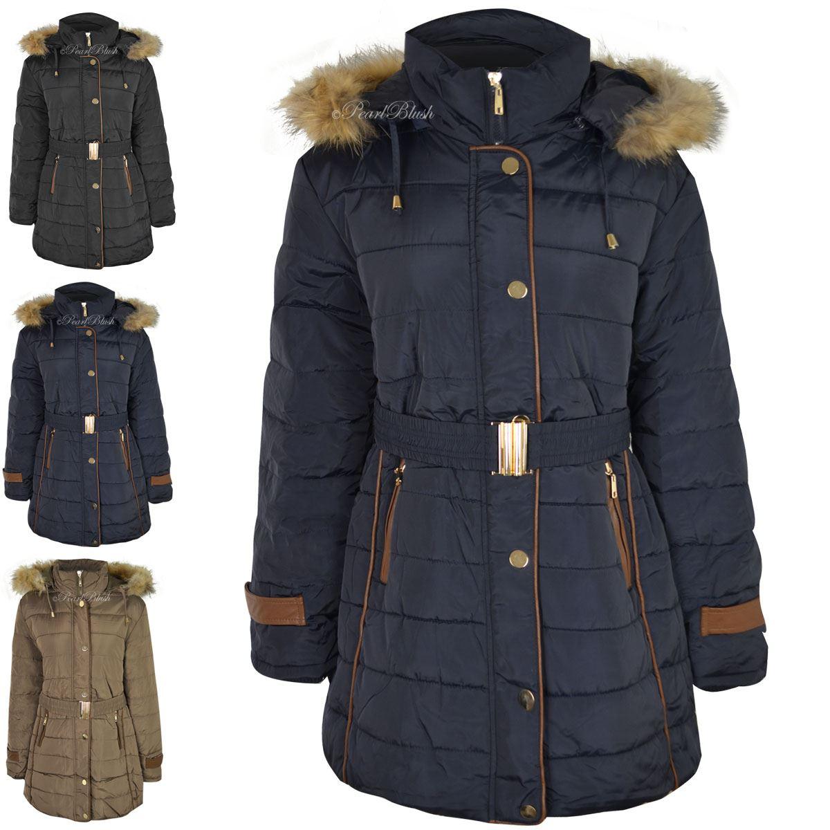 Large size womens coats