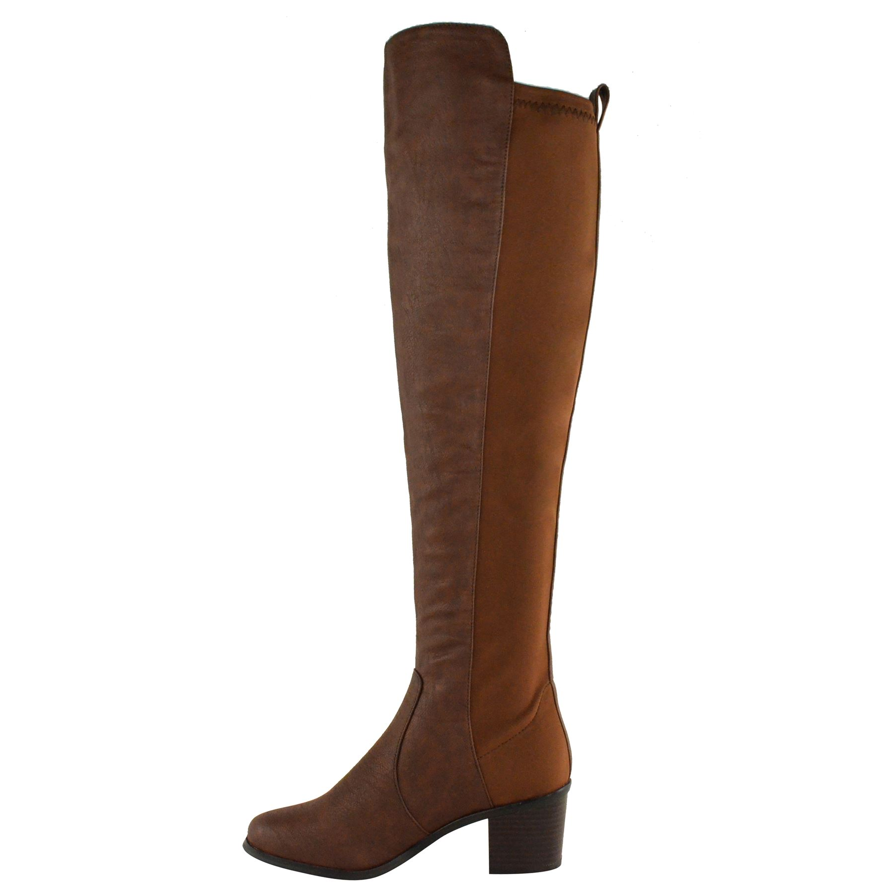 womens the knee thigh high stretch pull on low