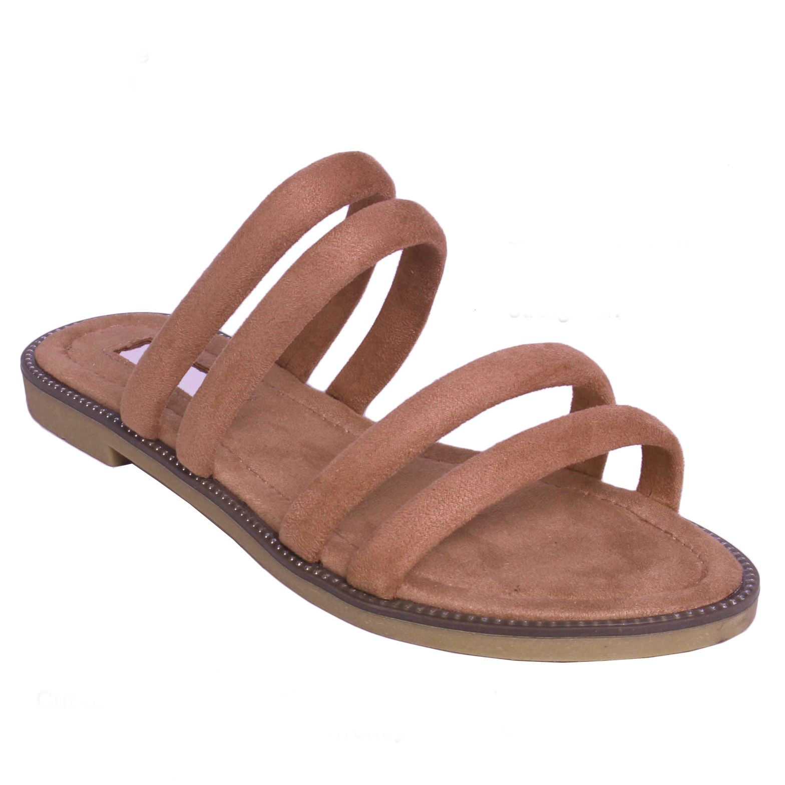 Womens-Ladies-Flat-Slip-On-Sandals-Strappy-Summer-Holiday-Slides-Mules-Shoe-SIze thumbnail 8