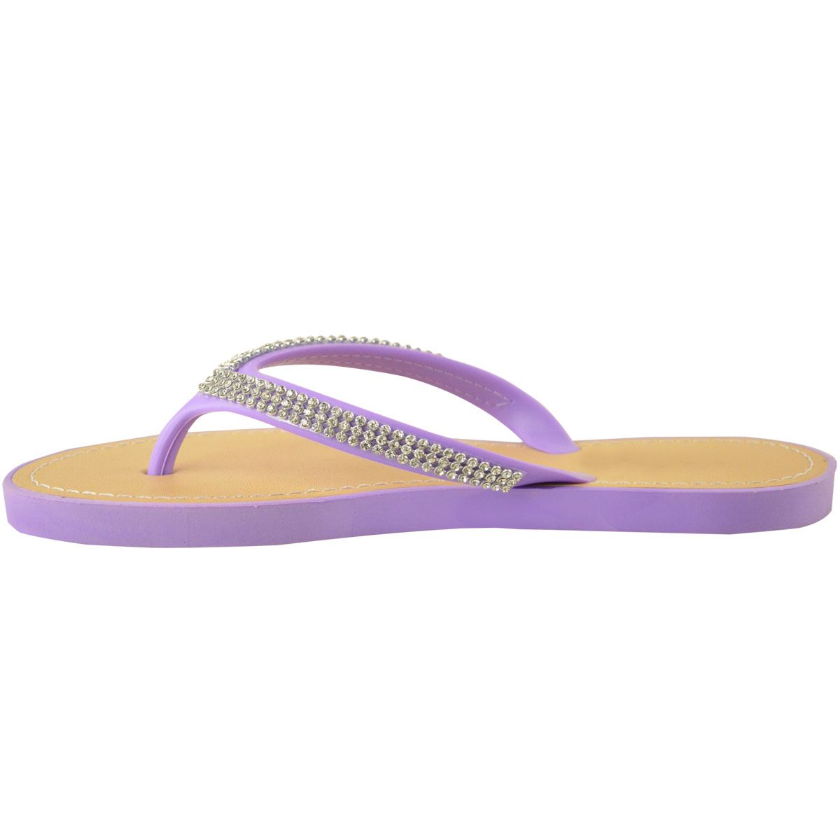 New Jelly Sandals Womens Ladies Diamante Summer Holiday -5999