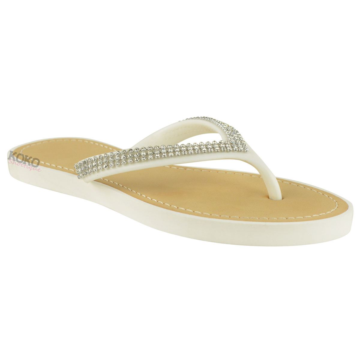 NEW-JELLY-SANDALS-WOMENS-LADIES-DIAMANTE-SUMMER-HOLIDAY-COMFORTS-FLIP-FLOPS-SIZE thumbnail 33