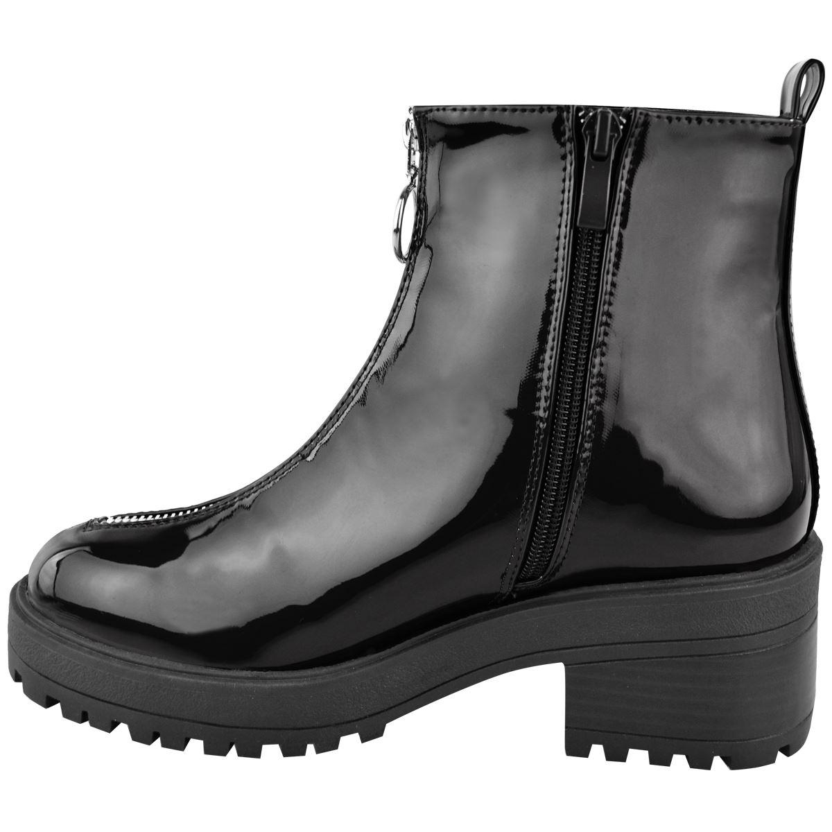 Débardeur Femme Nouveau Talon bottier plat Bottines Hiver Semelle Antidérapante Grunge Chaussures Taille