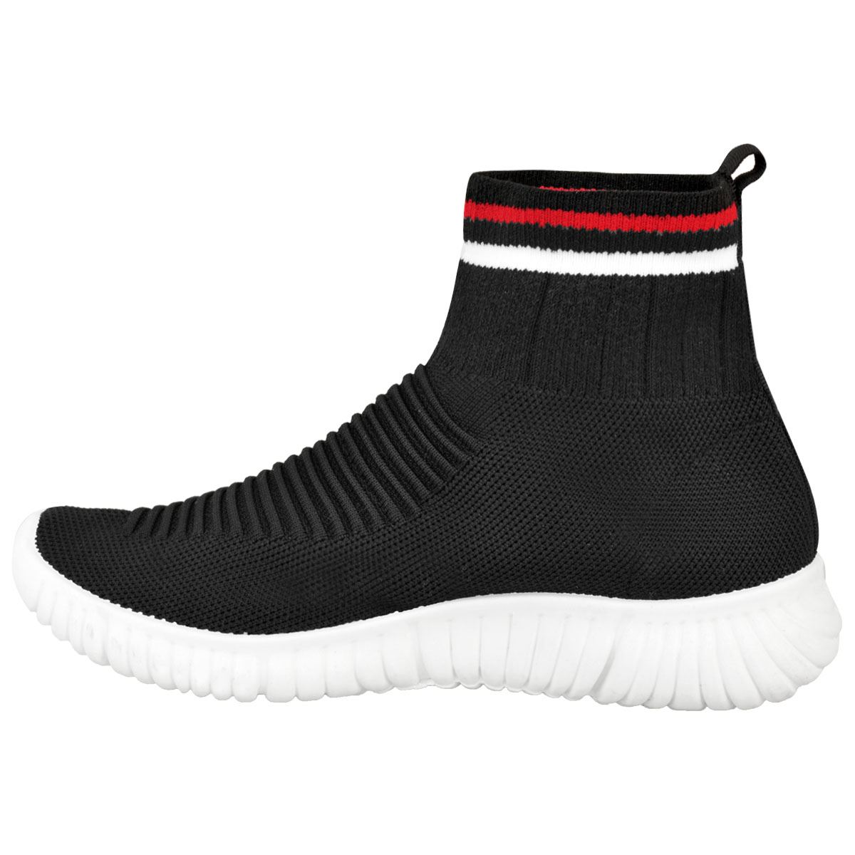 69fc9a3279ef6 Womens Ladies Speed Trainers Sock Sneakers Runners Stretch Fitness ...