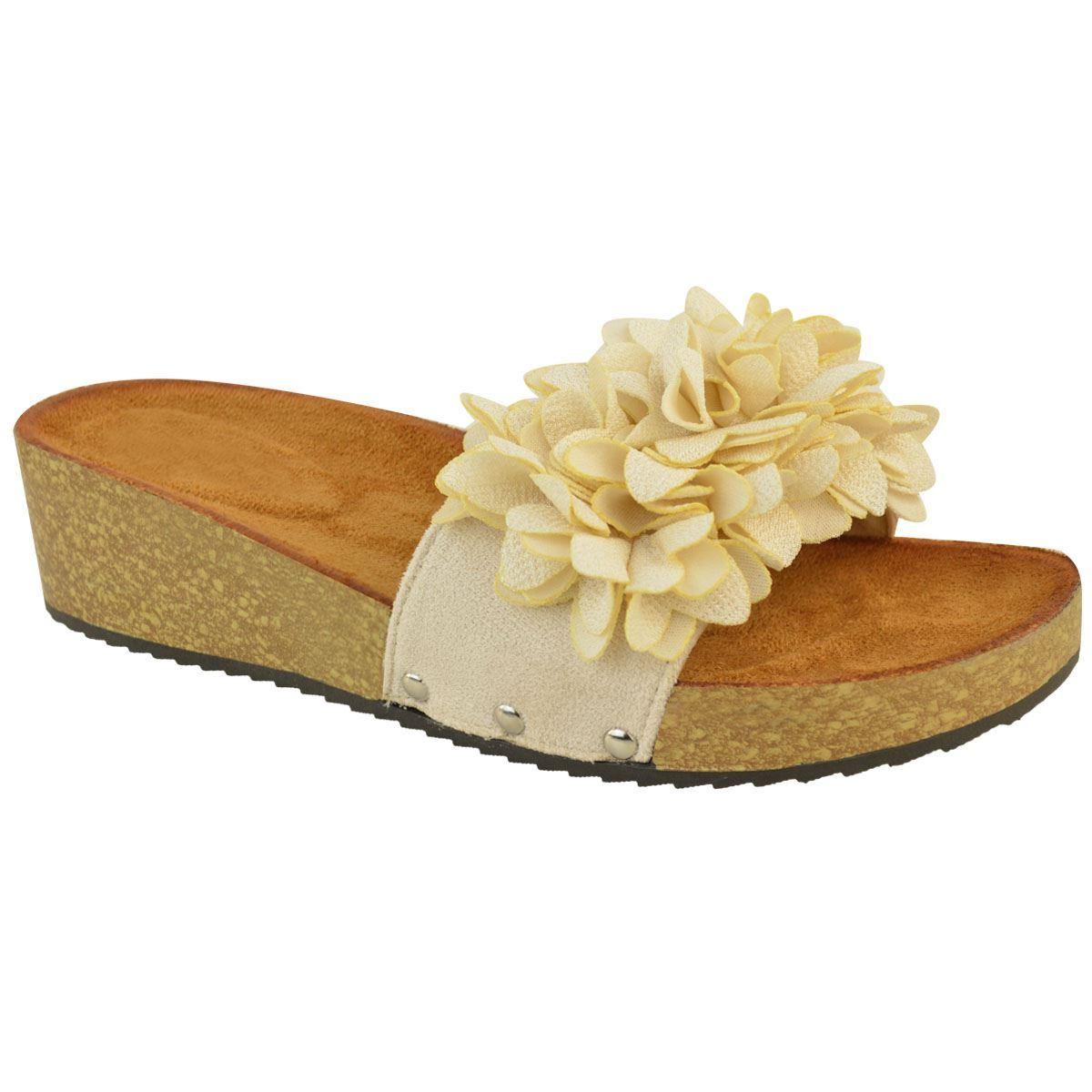 New Women Metallic Slide Sandals Flip Flop Platform Footbed Shoes 1818