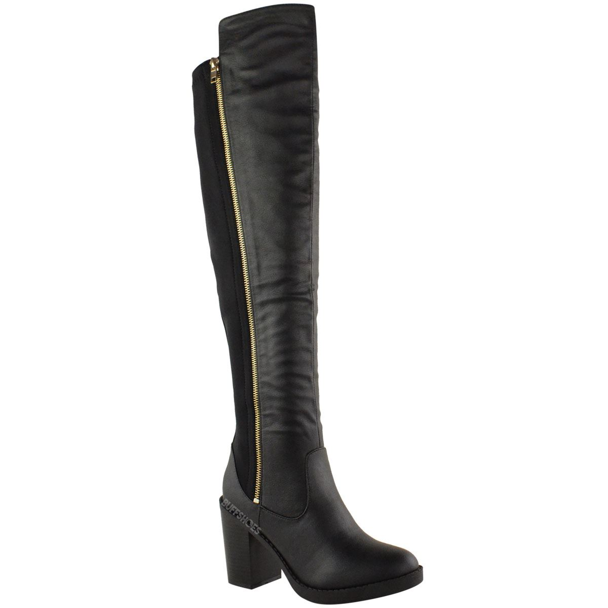 WOMENS LADIES CHUNKY HEEL OVER THE KNEE THIGH HIGH WINTER