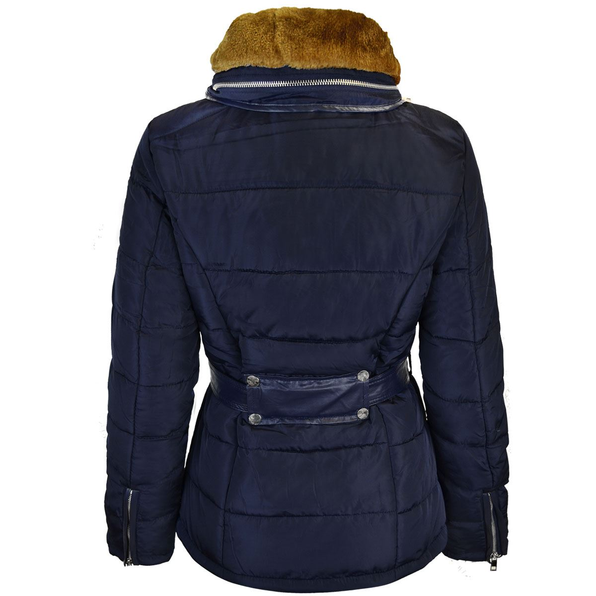 Hooded Quilted Coat with High Collar and Faux Suede Trim Keeping this secret is one of the ways we keep bringing you top designers and brands at great prices. .