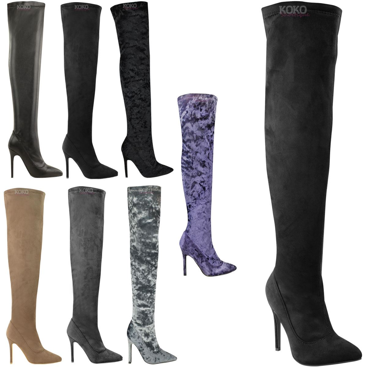 Mujer LADIES OVER THIGH HIGH STILETTOS HEELS OVER LADIES THE KNEE botas SEXY PARTY Talla 6aeb50