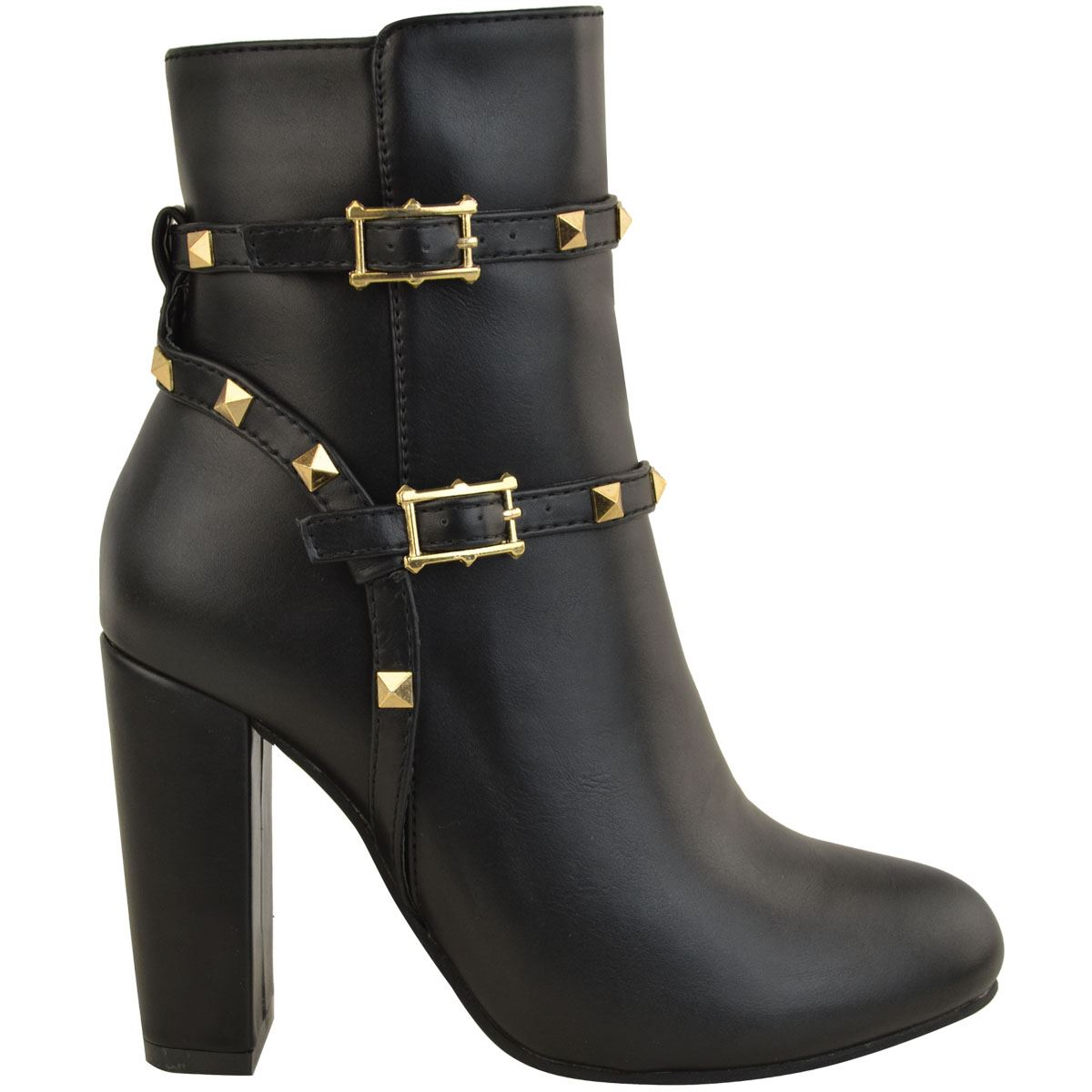 thumbnail 18 - WOMENS-LADIES-LOW-BLOCK-HEEL-CHELSEA-ANKLE-BOOTS-CUT-OUT-LACE-UP-SHOES-NEW-SIZE
