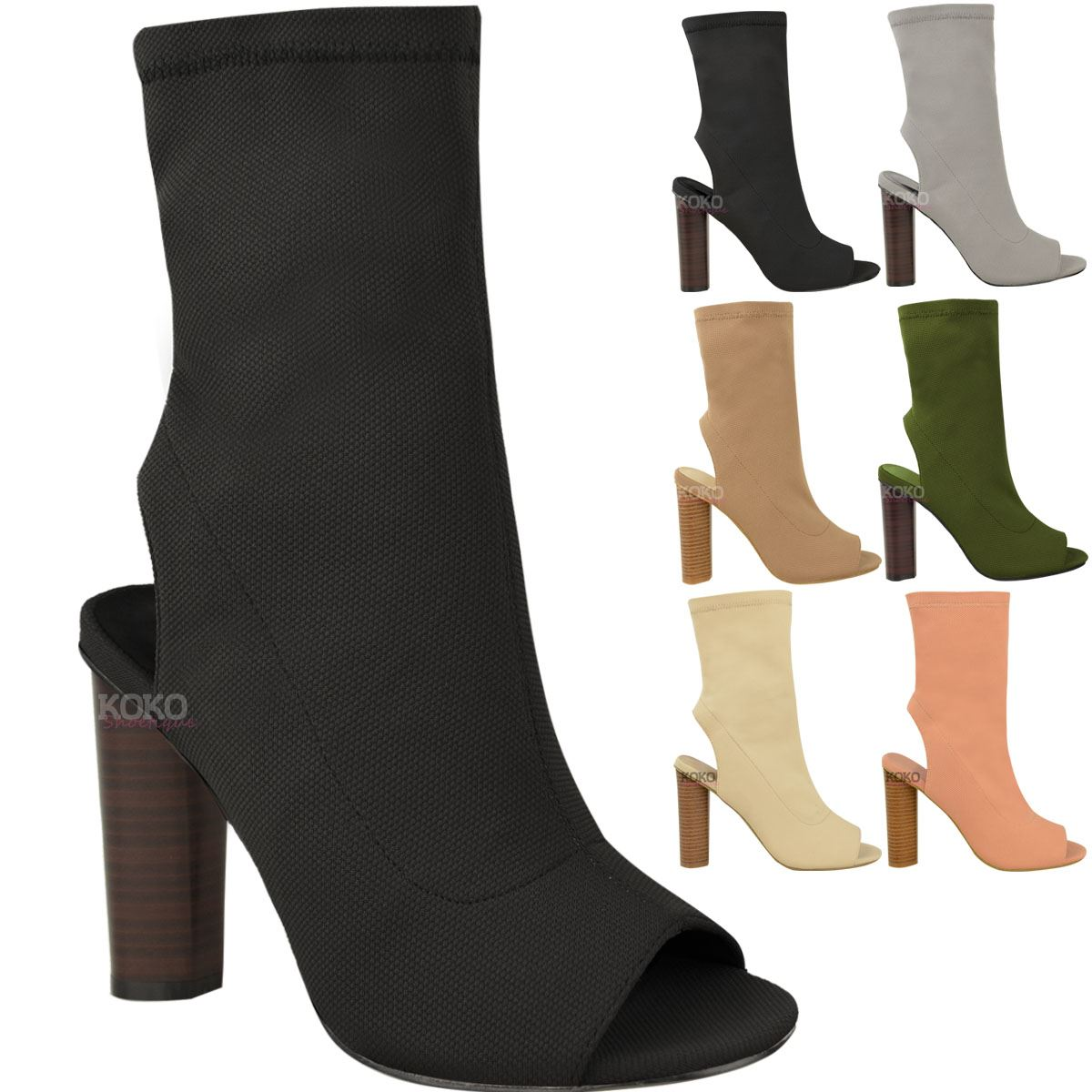Koko Women US 8 Brown Peep Toe Western Boot