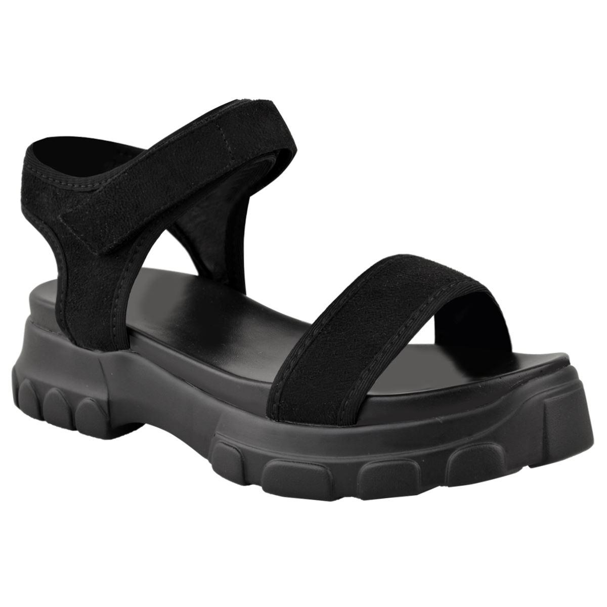 20378bd4054 Womens Ladies Flat Chunky Sandals Flatform Grip Platform Sole ...