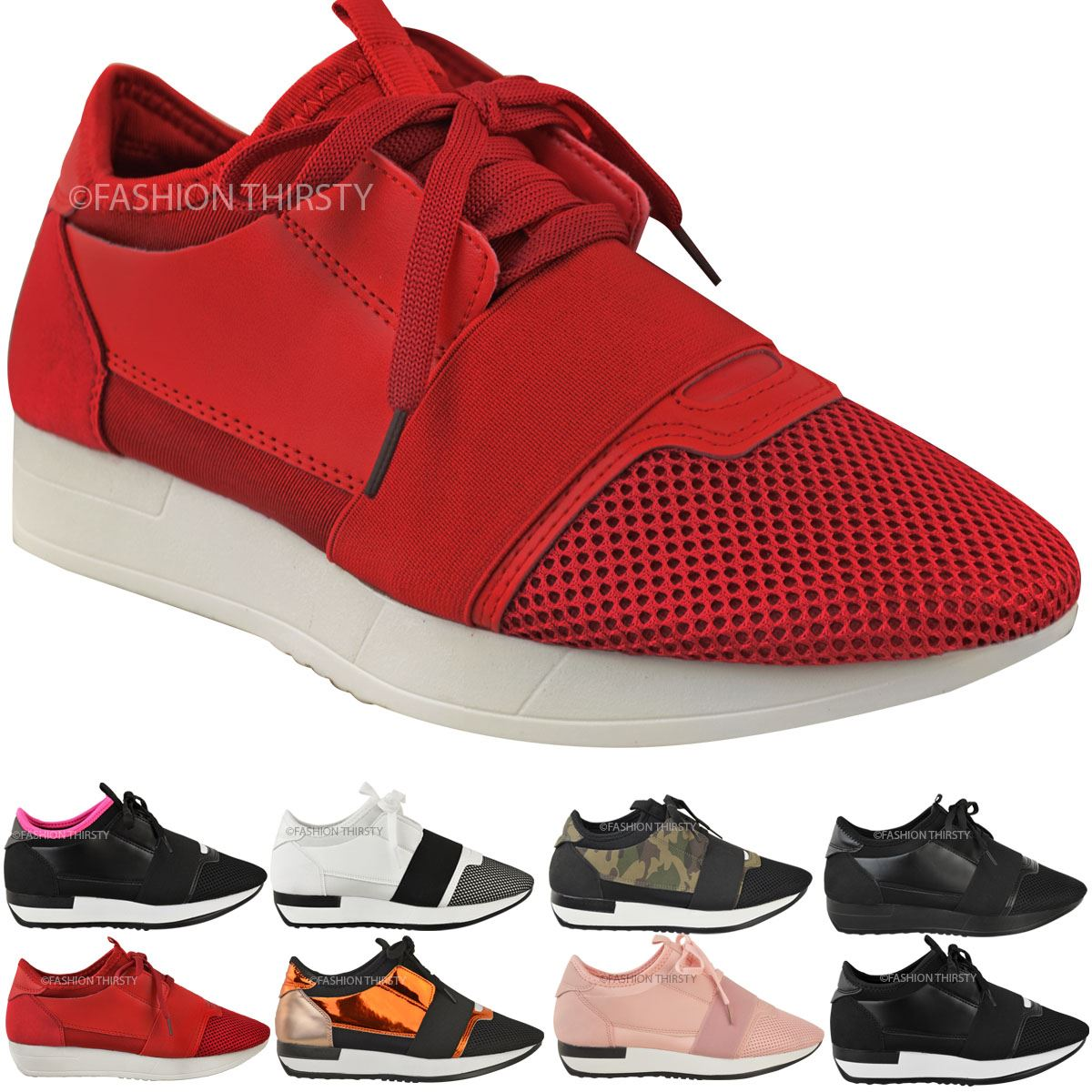 Beautiful Girls Platform Womens Round Toe Lace Up Trainer Sport Shoes Sneakers