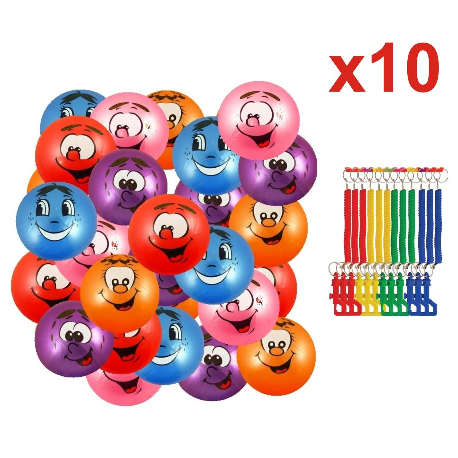 Large Scented Fruit Smelly Balls with Keyring Party Bag Childrens Loot Bag