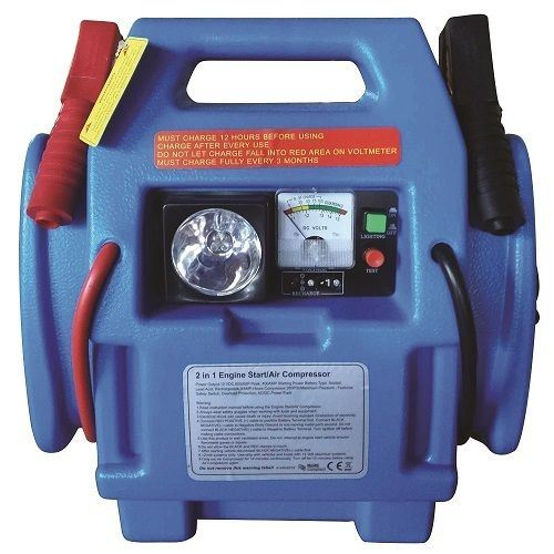 Details About 12v Car Jump Starter Battery Start Booster Charger Leads Air Compressor Portable
