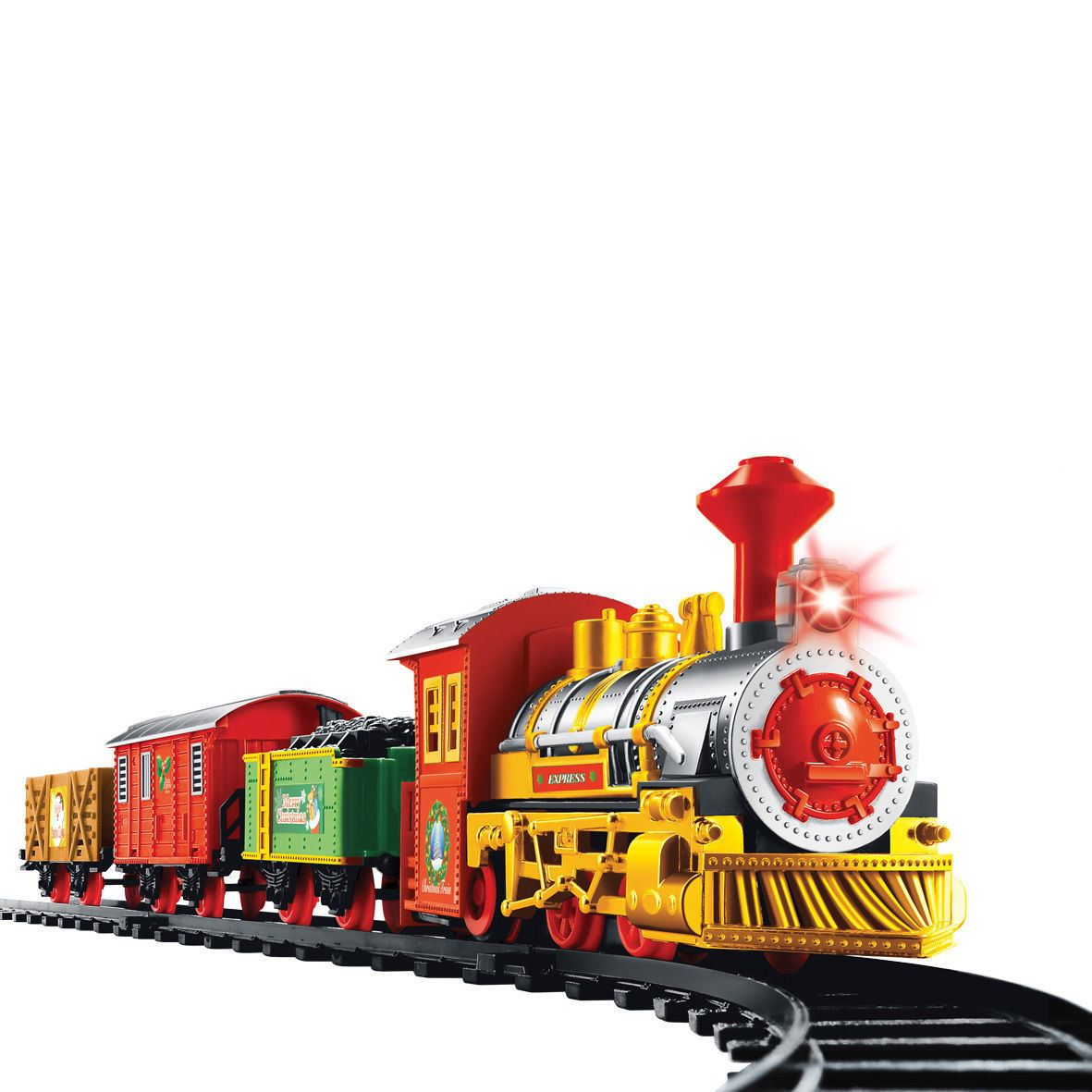 Christmas Toy Train : Pc christmas deluxe xmas toy gift train set with