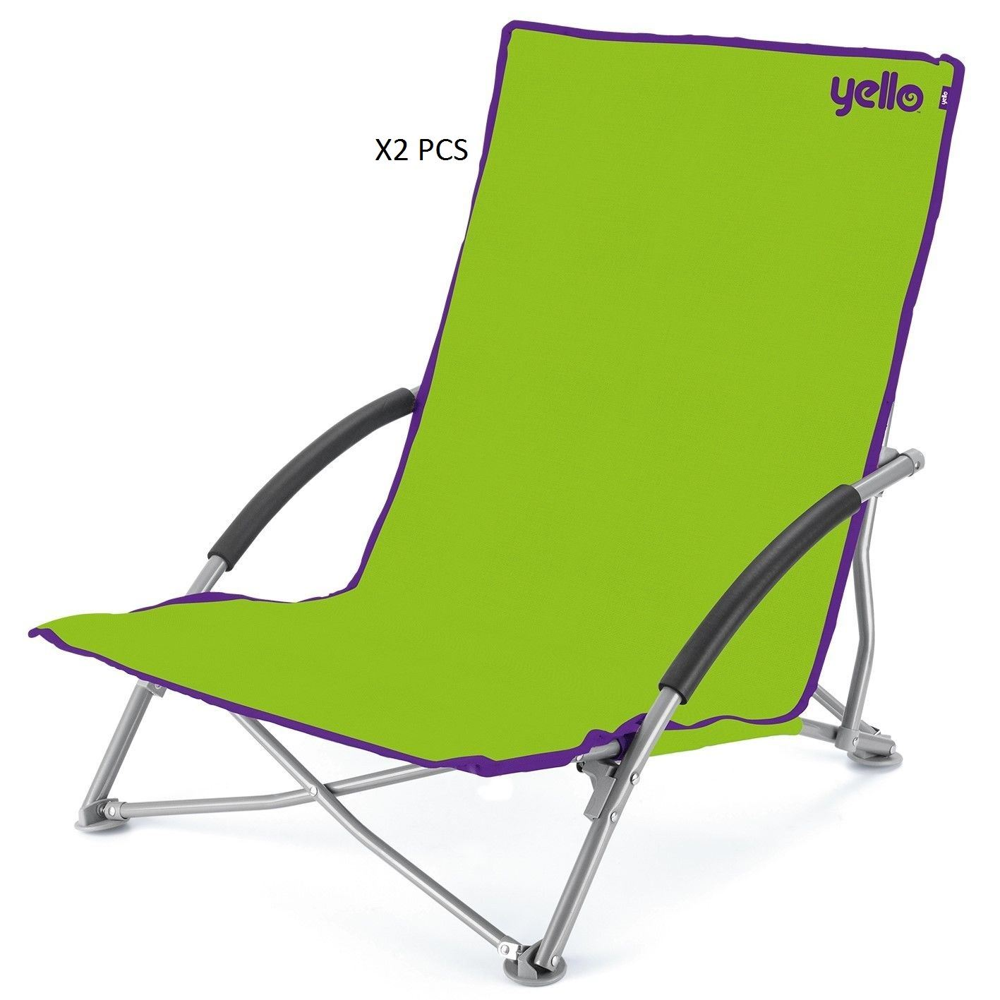 X2 Heavy duty folding camping directors chair with Foam arms in