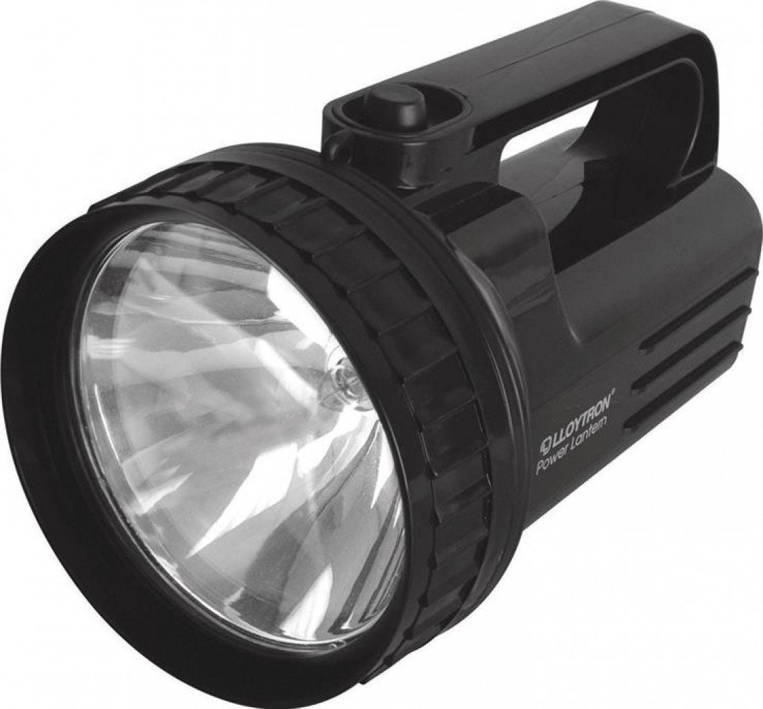 Lloytron D965 High Power Krypton Lantern Battery Powered PJ996 4D Torch Black