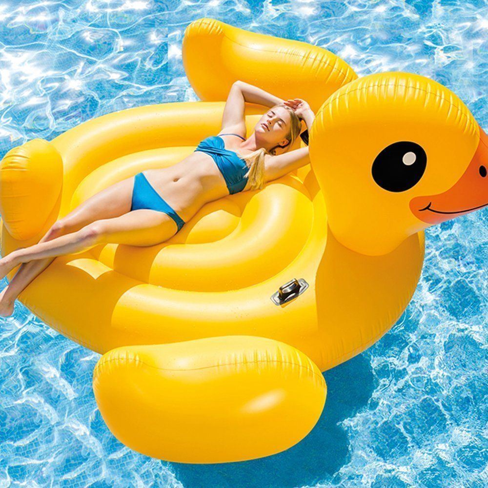 Beach or A Summer Party | Great Fun Accessory For The Swimming Pool Inflatable Doughnut Swimming Pool Lounger Lilo Float