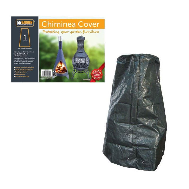 Barbecue and Chimenea Cover Polyethylene Outdoor Weather Waterproof Protector