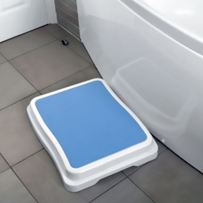 BATH STEP STOOL STACK-ABLE SAFETY AID DISABILITY NON SLIP SHOWER ...