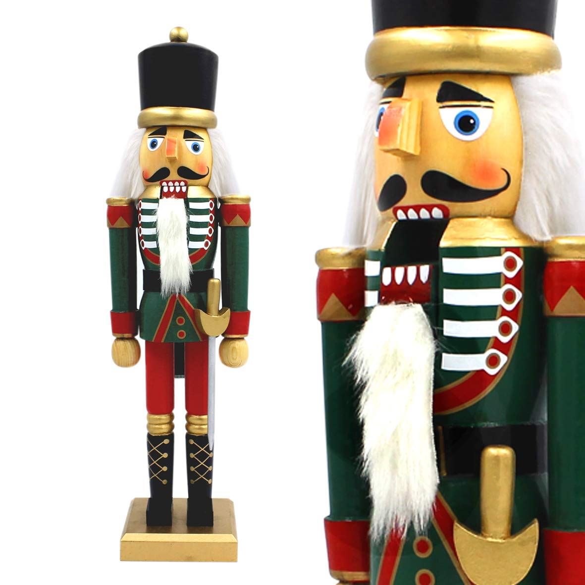Details About 50cm Tall Wooden Soldier Nutcracker Stand Xmas Decoration