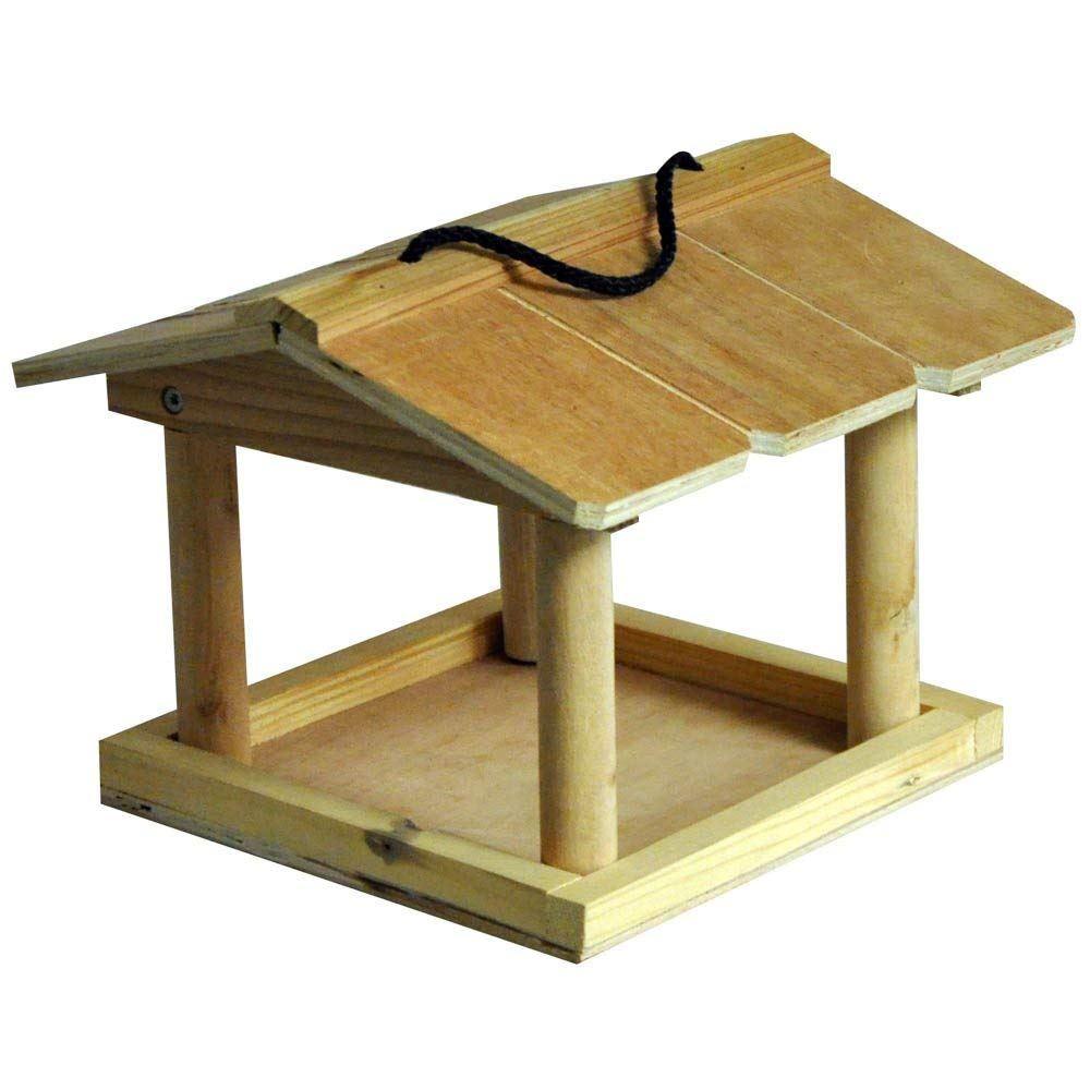 Hanging Tables: Hanging Wooden Bird Table Garden Birds Pet Tree Bracket