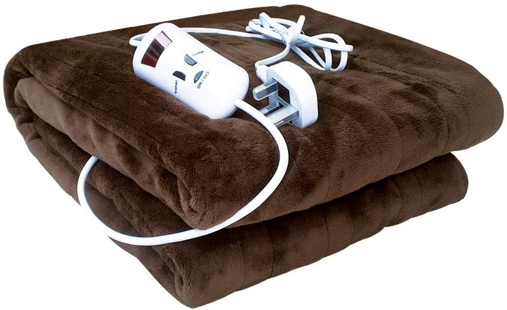 Electric Heated Blanket Warm Soft Over Throw Rug Digital Timer Controller Fleece