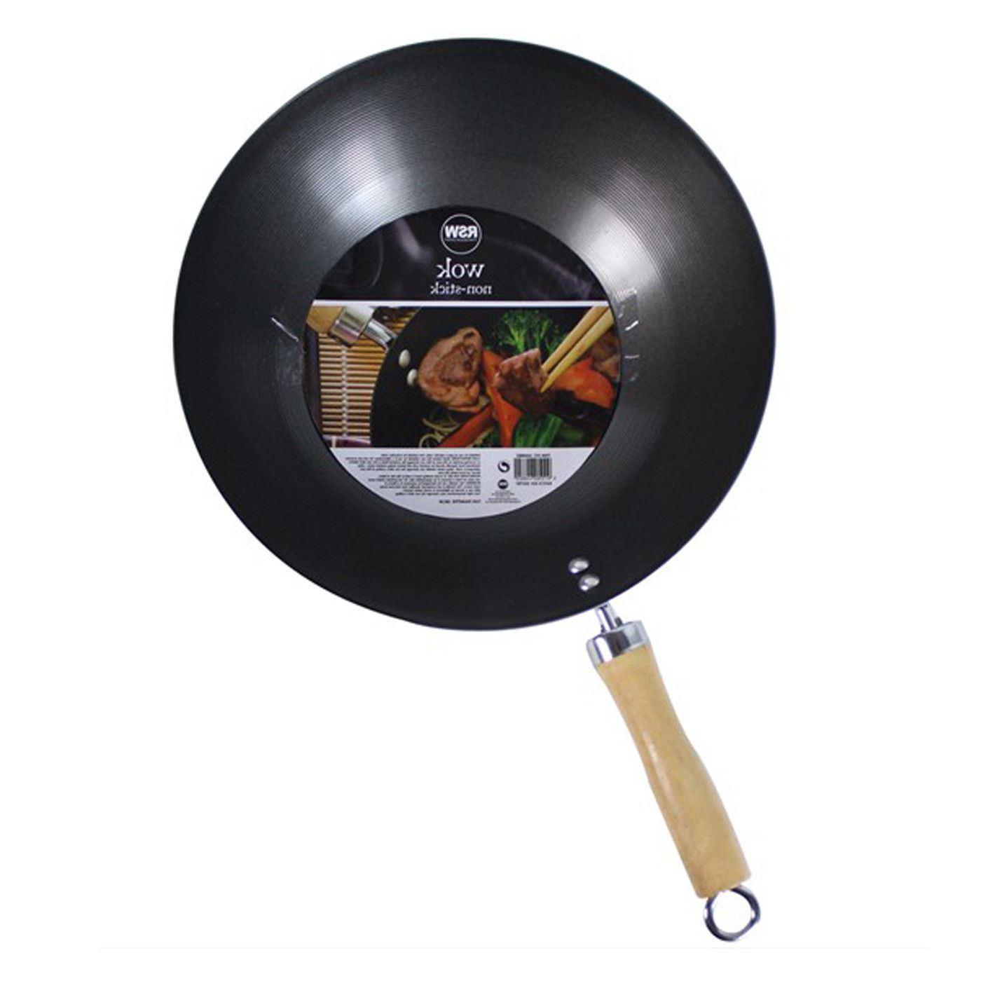 28 cm Black Sabichi Wok Aluminium