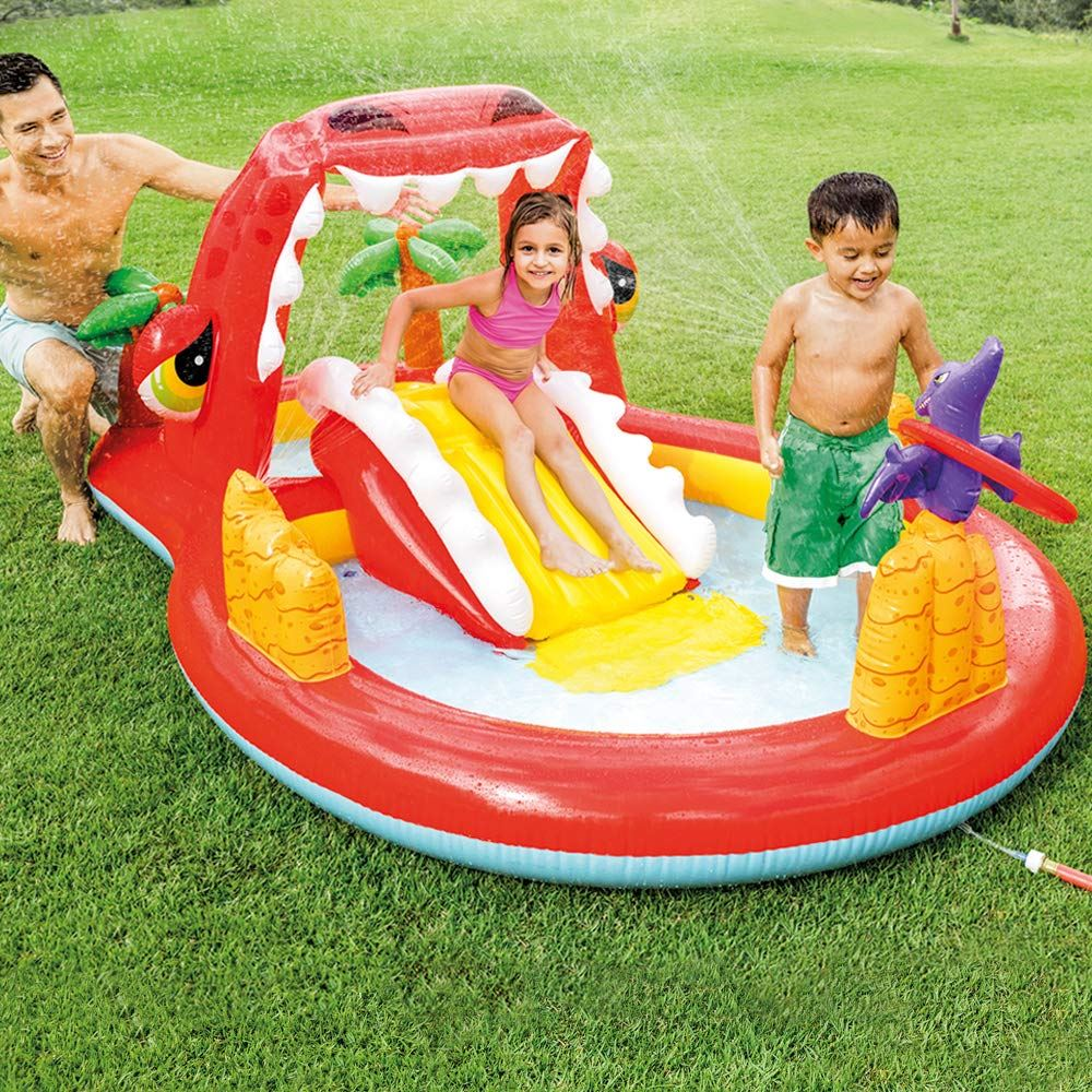 Inflatable Pool Slide Uk: Intex Kids Inflatable Play Centre Slide Swimming Paddling