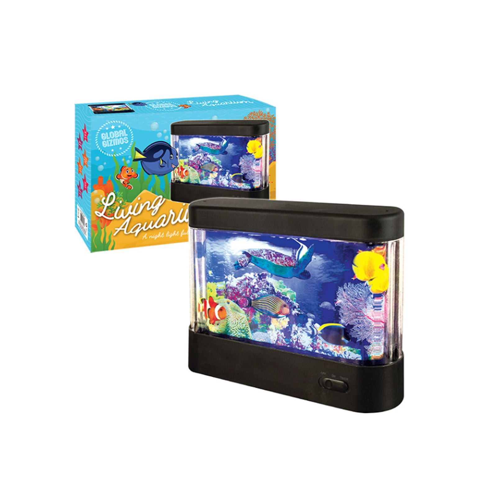 Colourful living aquarium fish tank with built animated for Animated fish tank