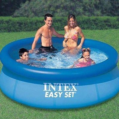 Intex easy set paddling pool 8 39 x 30 large pool for for Large paddling pool