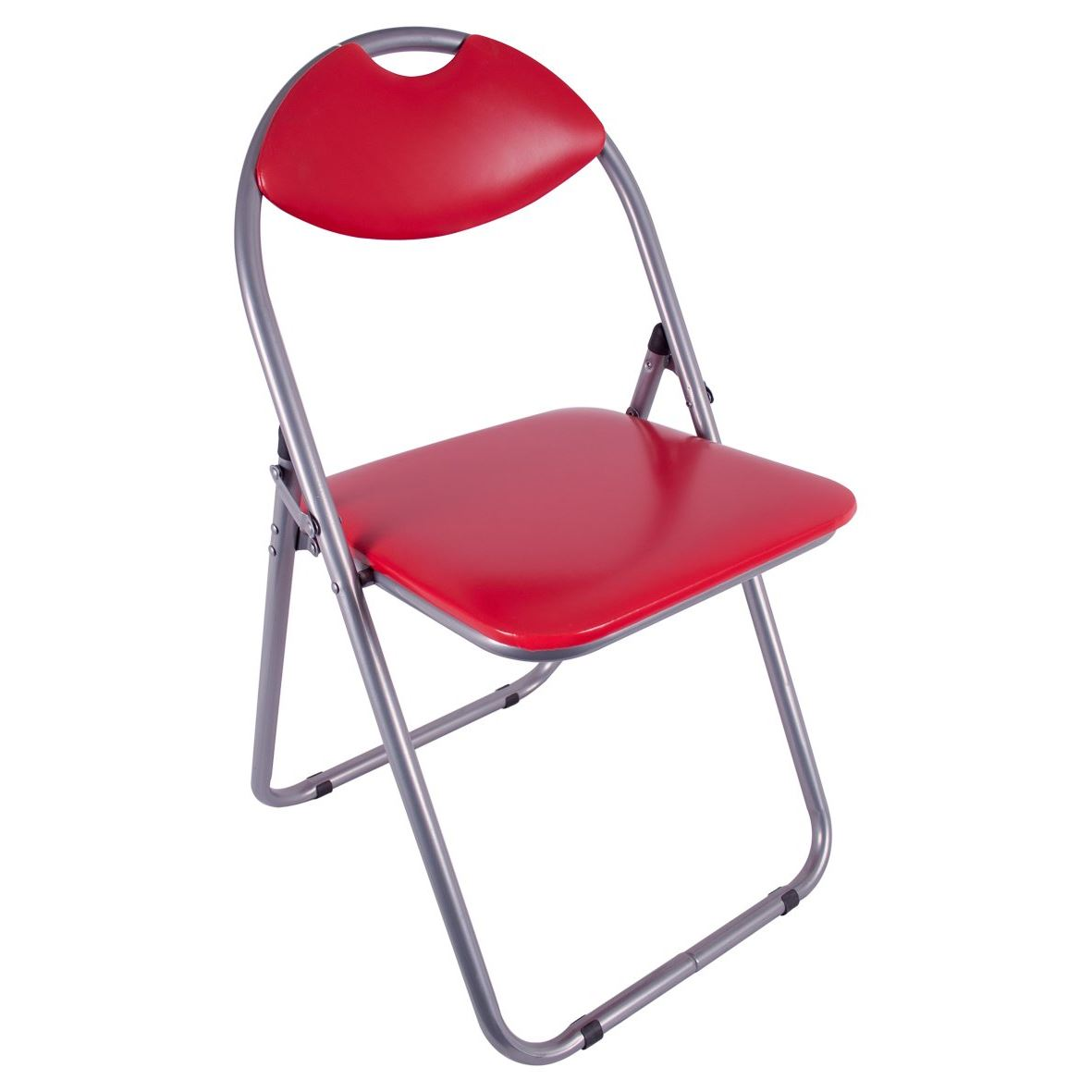 Folding Office Chair Padded Red Faux Leather Fold Up Seat Backrest Dining Home 5025301692605 Ebay