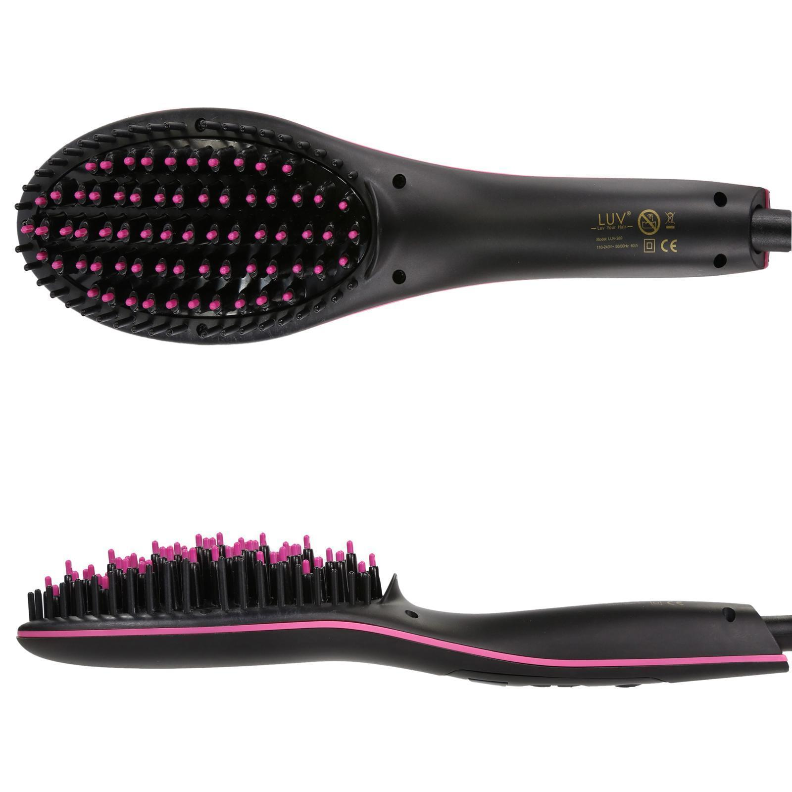 LUV-Hair-Straightening-Brush-Anti-Static-Technology-Anti-Scald-LCD-Display thumbnail 9