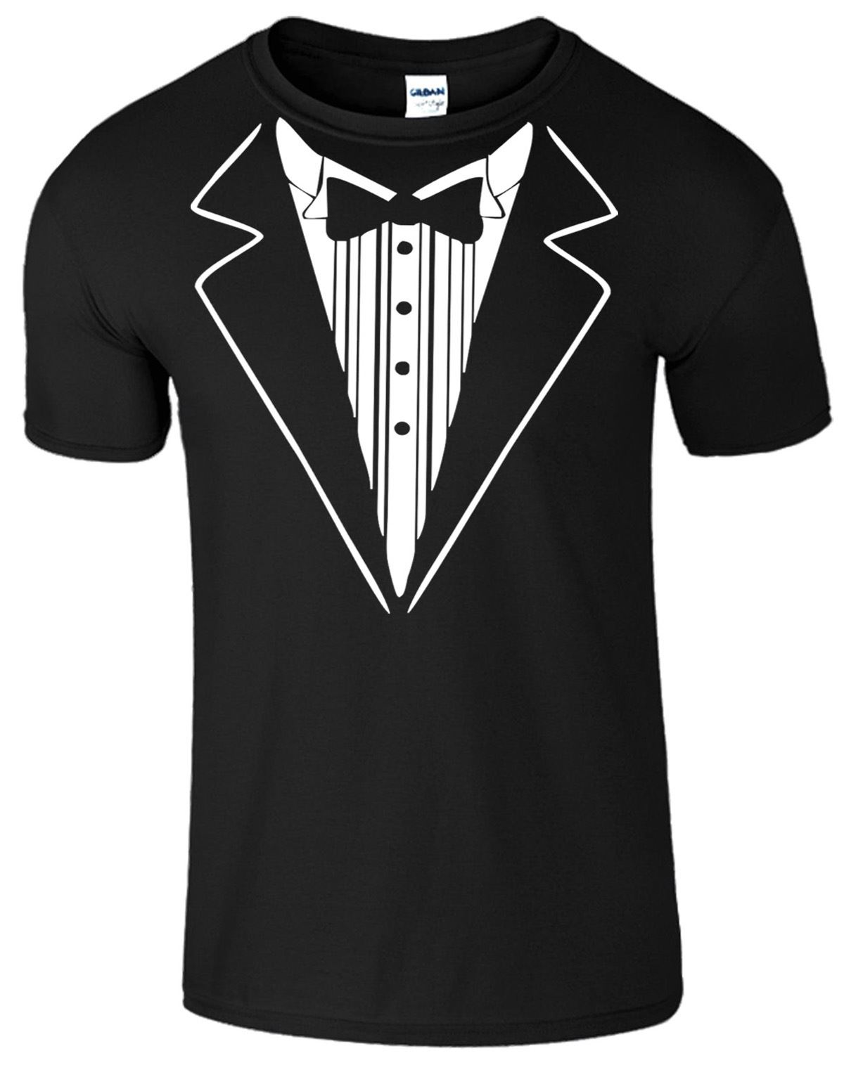 Tuxedo Suit and Bow Tie Funny fancy Dress Gift Wedding Stag Casual ...