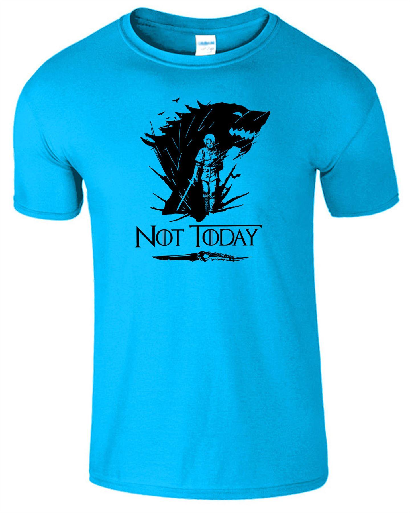 Arya-Stark-Not-Today-T-Shirt-Mens-Game-Season-Womens-Shirt-Adults-Unisex-Fit Indexbild 43