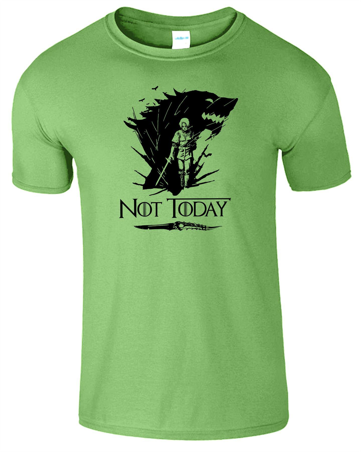 Arya-Stark-Not-Today-T-Shirt-Mens-Game-Season-Womens-Shirt-Adults-Unisex-Fit Indexbild 28