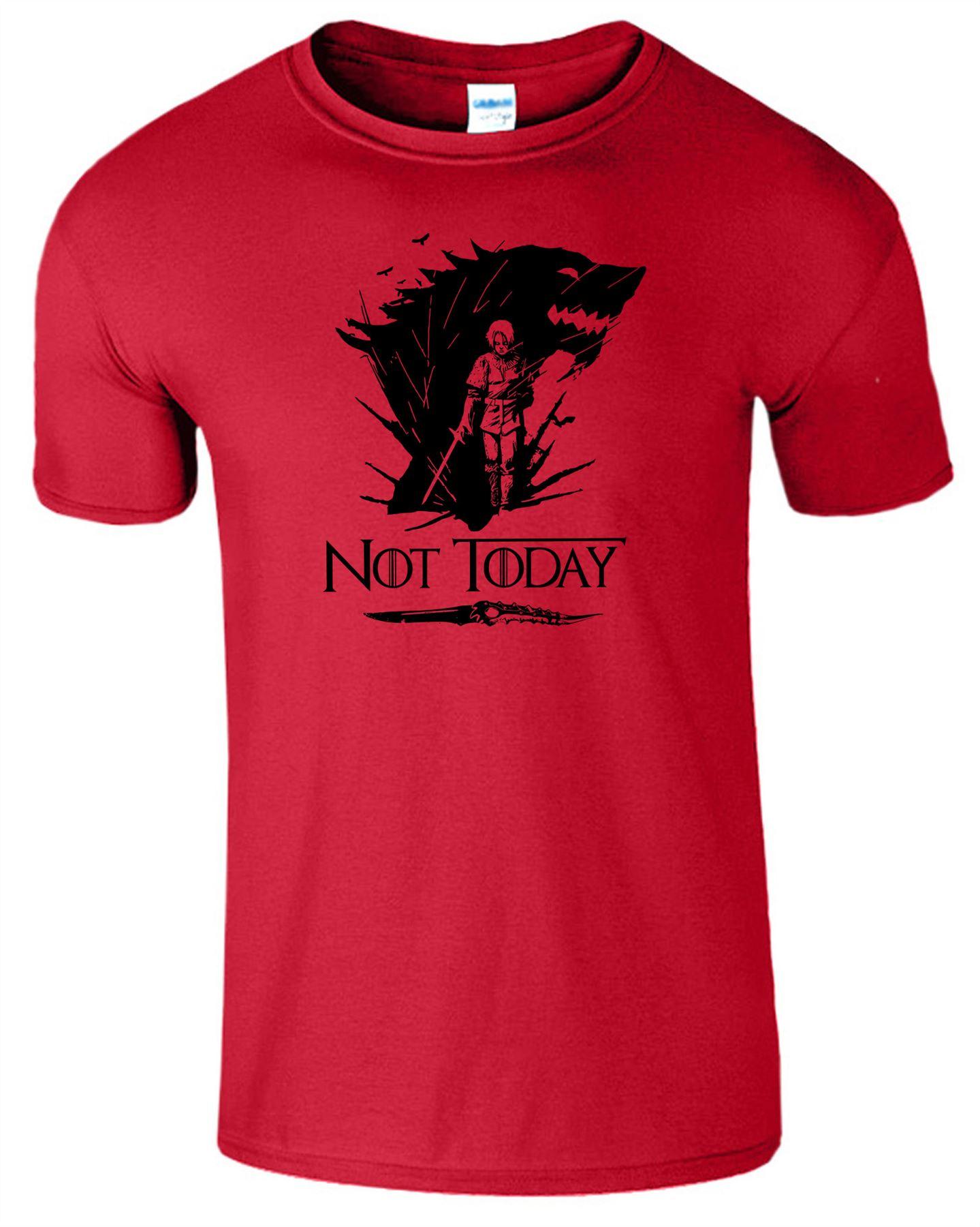 Arya-Stark-Not-Today-T-Shirt-Mens-Game-Season-Womens-Shirt-Adults-Unisex-Fit Indexbild 5