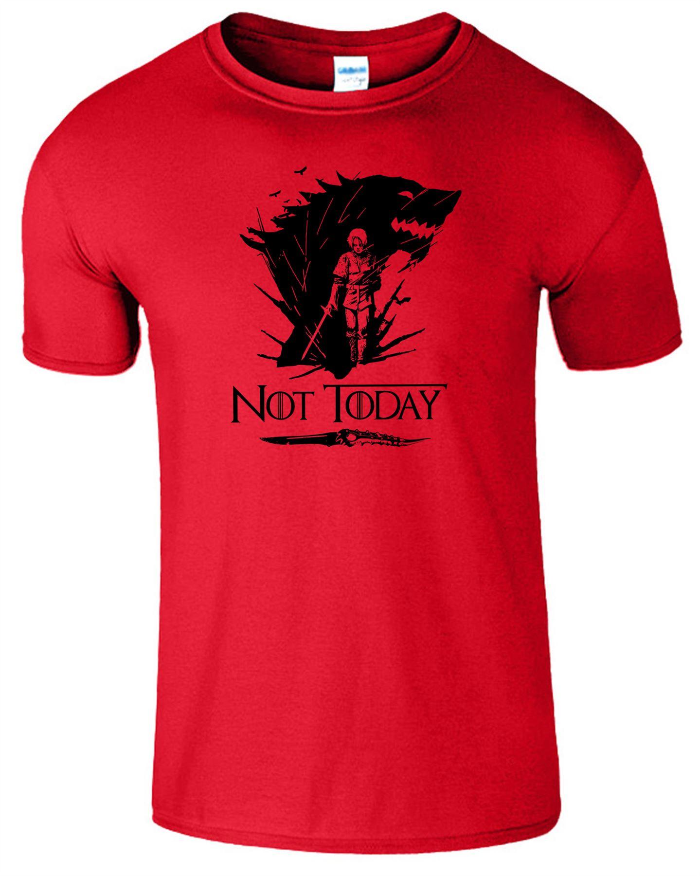 Arya-Stark-Not-Today-T-Shirt-Mens-Game-Season-Womens-Shirt-Adults-Unisex-Fit Indexbild 38