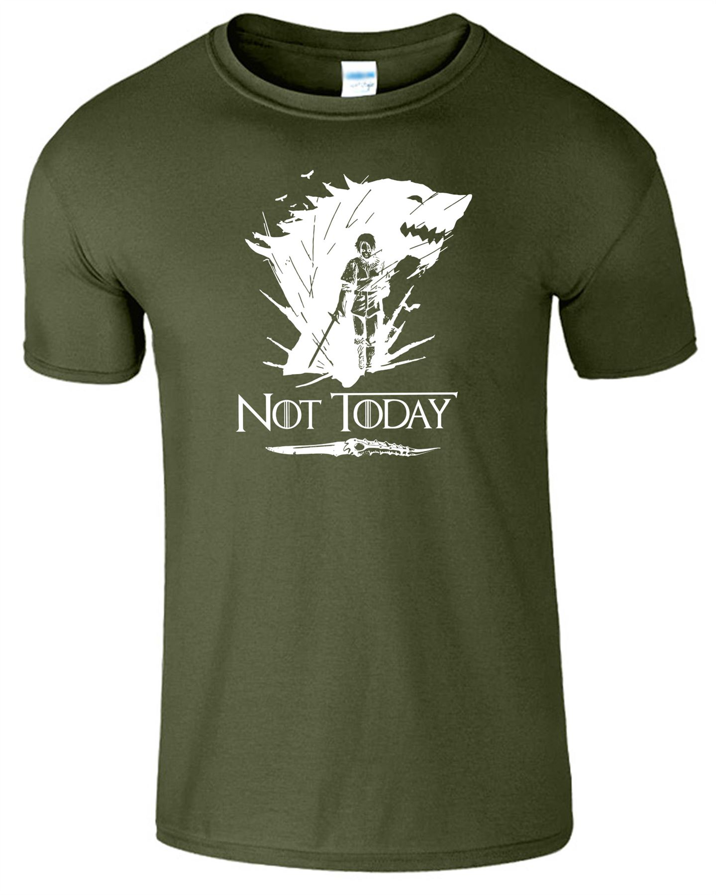 Arya-Stark-Not-Today-T-Shirt-Mens-Game-Season-Womens-Shirt-Adults-Unisex-Fit Indexbild 31