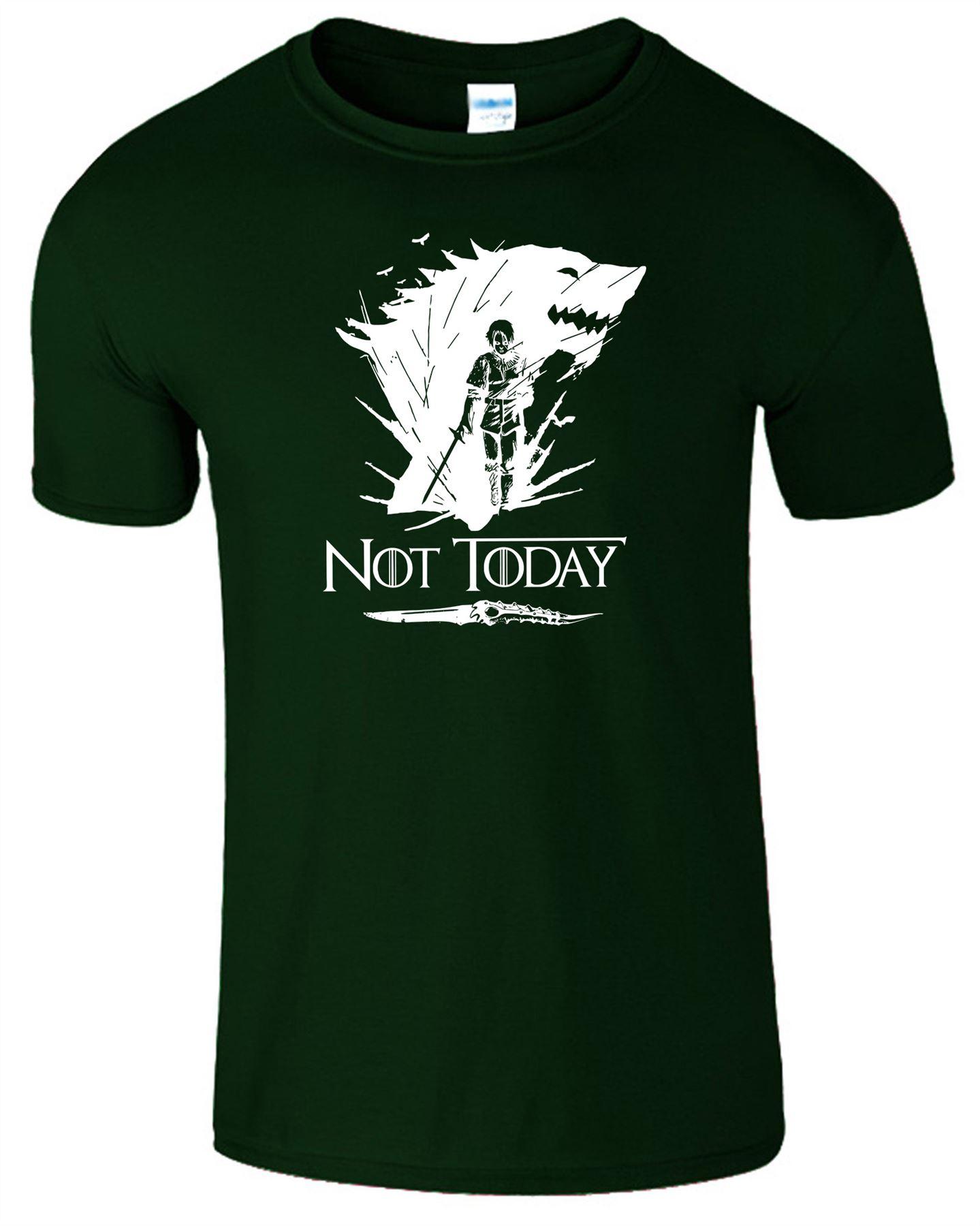 Arya-Stark-Not-Today-T-Shirt-Mens-Game-Season-Womens-Shirt-Adults-Unisex-Fit Indexbild 14