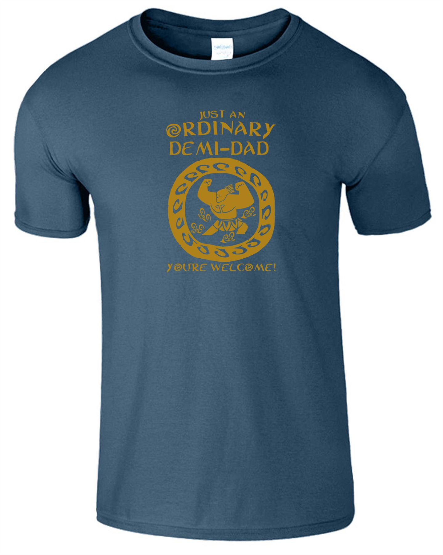 58624ede Just An Ordinary Demi-Dad Mens Moanna T-Shirt Fathers Day Unisex ...
