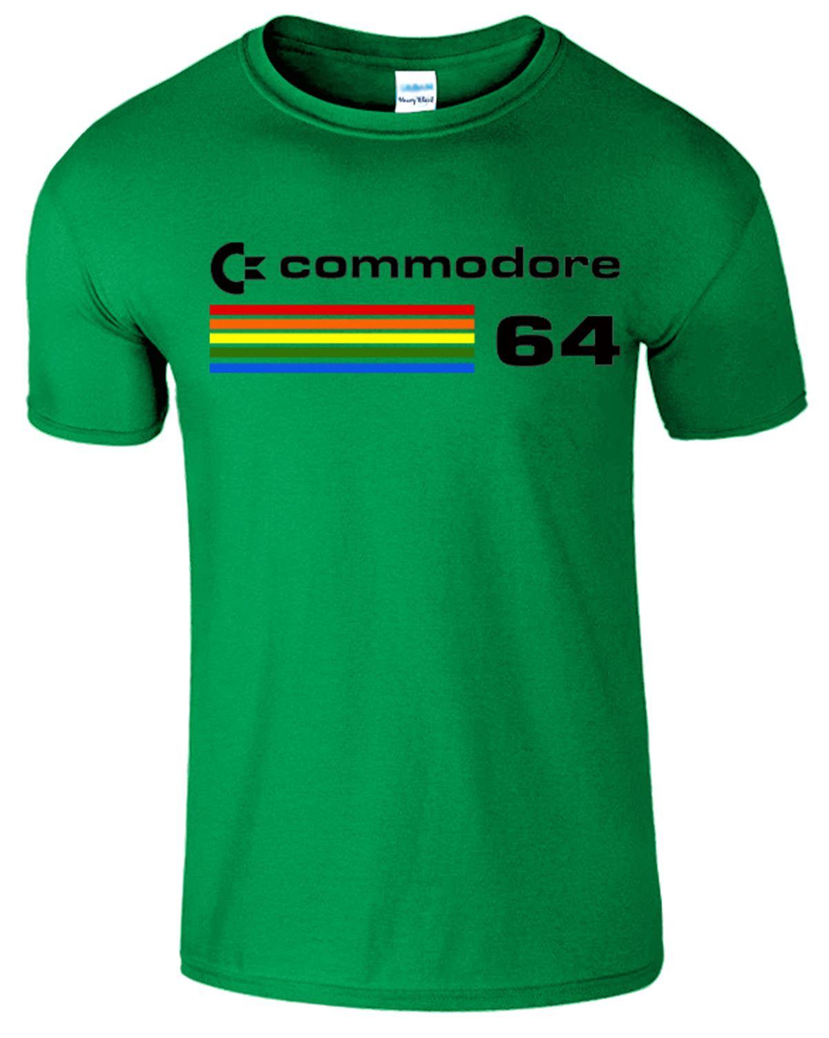 Computadora-Commodore-64-para-hombre-T-Shirt-Tee-Shirt-C64-Clasico