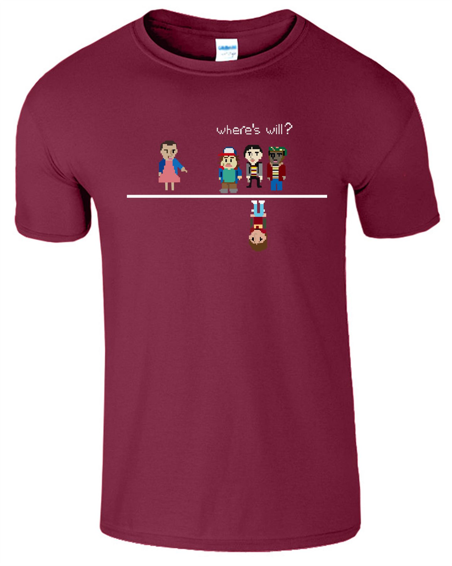 WHERE/'S WILL 8 Bit Mens Womens T Shirt ELLE ELEVEN Funny Top Tee T-Shirt