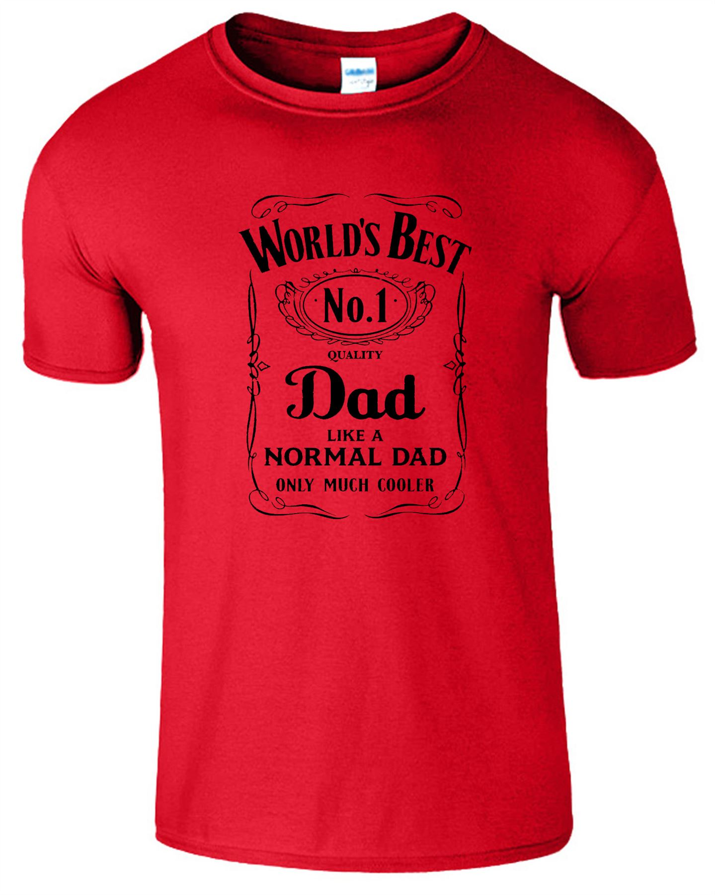 WORLD's BEST DAD Father's Day DADY Mens T-Shirt Birthday ...
