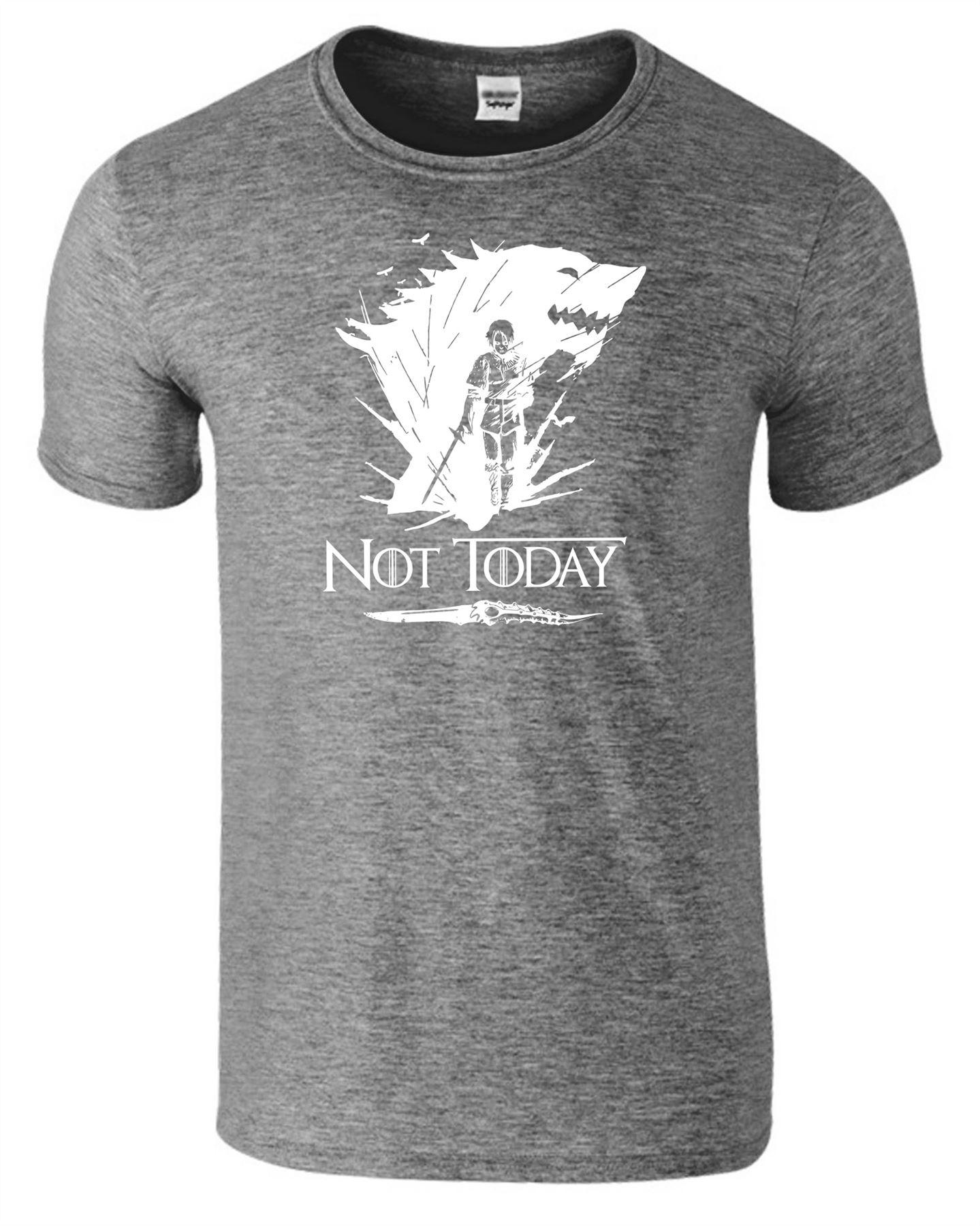 Arya-Stark-Not-Today-T-Shirt-Mens-Game-Season-Womens-Shirt-Adults-Unisex-Fit Indexbild 15