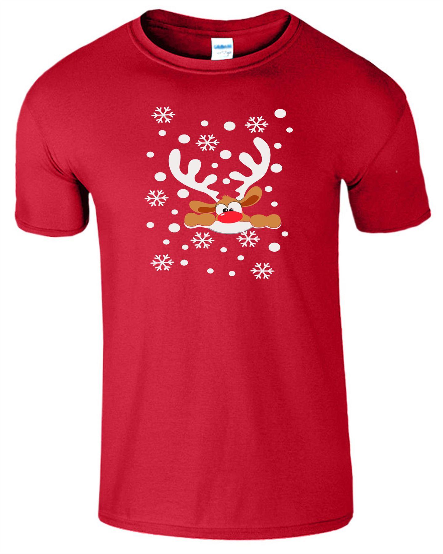 Renne Homme Kids T-Shirt Noël Noël Nouveauté Neige Garçons Filles Top T Shirt