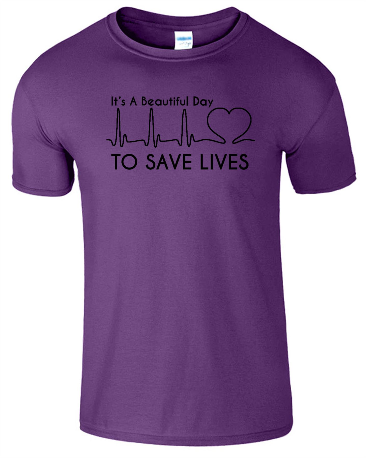 It\'s A Beautiful Day To Save Lives Mens T-Shirt Grey\'s Anatomy Tv ...
