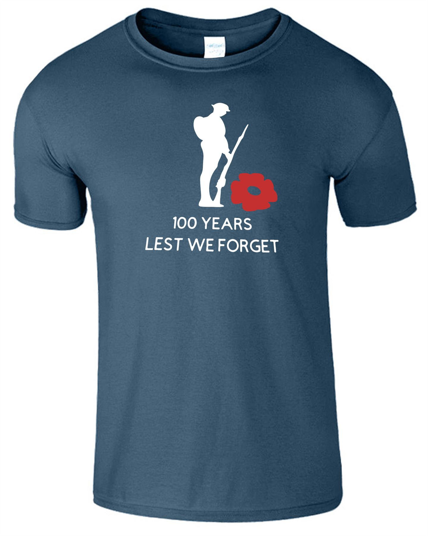 Soldiers Remembrance Day Mens T-Shirt Lest We Forget Womens Gift Top T Shirt