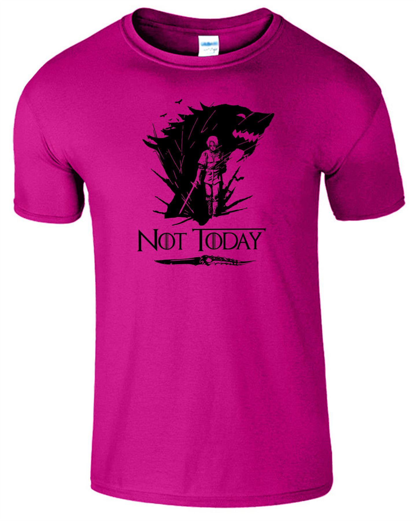 Arya-Stark-Not-Today-T-Shirt-Mens-Game-Season-Womens-Shirt-Adults-Unisex-Fit Indexbild 21