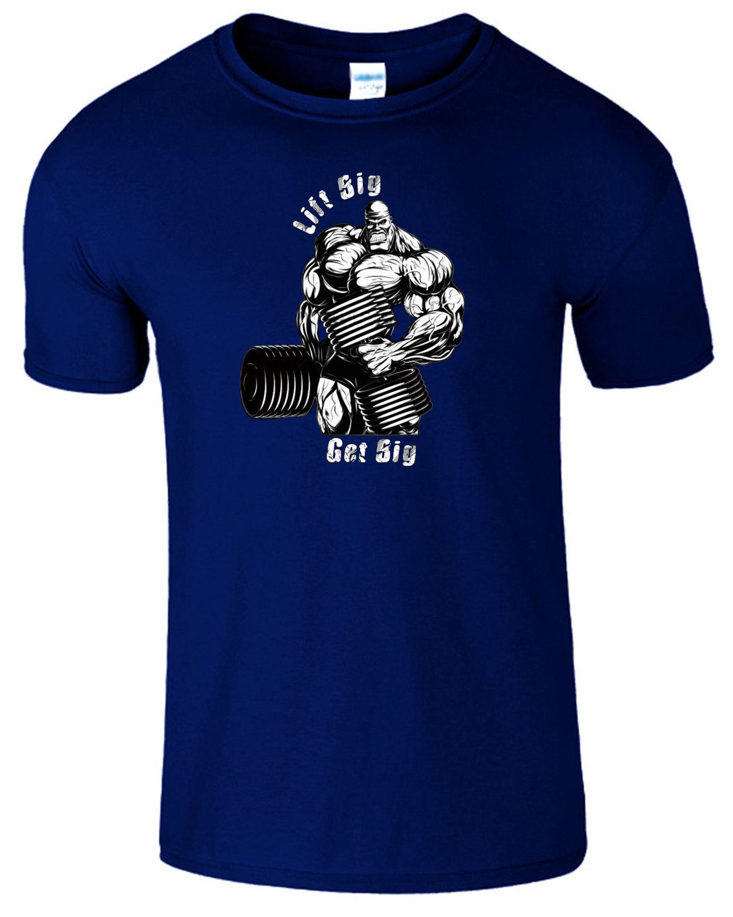 Lift big get big mens t shirt gym weight lifting workout for Big mens t shirts
