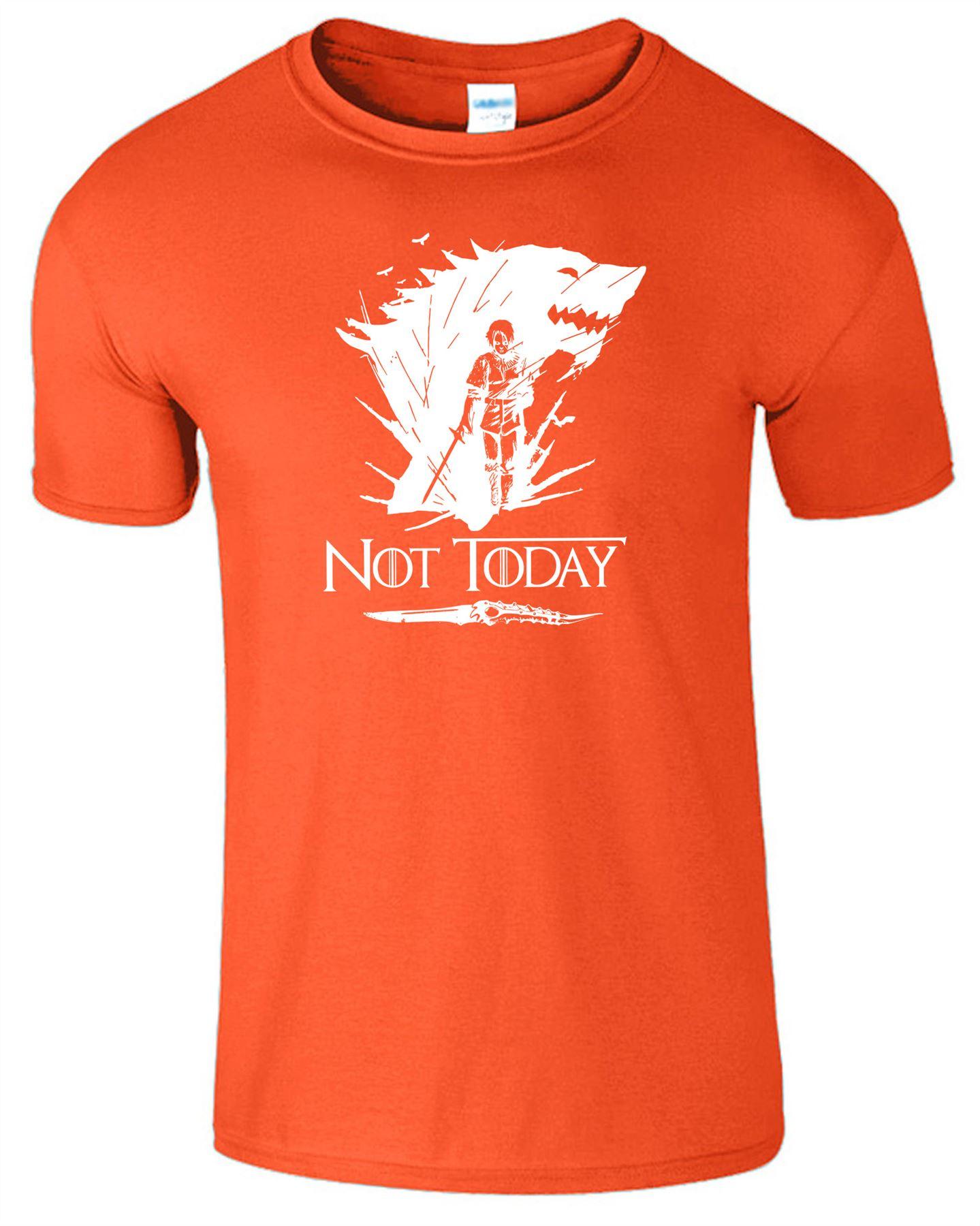 Arya-Stark-Not-Today-T-Shirt-Mens-Game-Season-Womens-Shirt-Adults-Unisex-Fit Indexbild 35